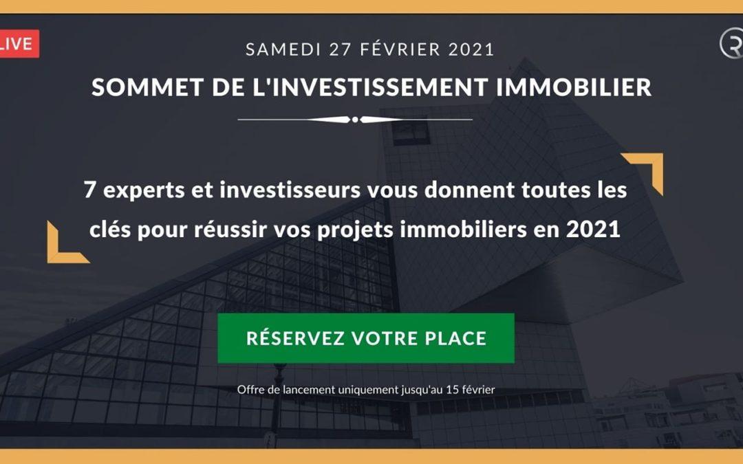 Apprendre à gagner 100 000 euros en participant au Sommet de l'Investissement Immobilier !